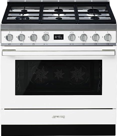 Smeg CPF9GPWH - Cocina (Cocina independiente, Blanco, Giratorio, Frente, Electrónico, LCD): Amazon.es: Hogar