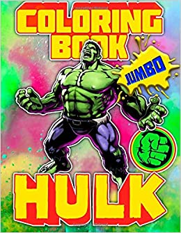Amazon.com: HULK Coloring Book (JUMBO): Great Book for MARVEL Fans ...
