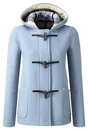 Original Montgomery Womens Short Duffle Coat Baby Blue
