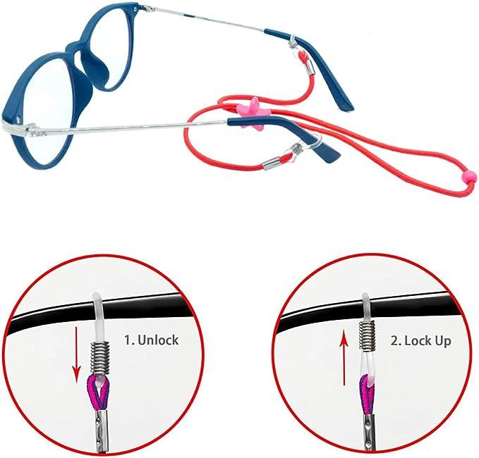Generic Kinder Silikon-Softstock Eyewear Schnur Brille Band Brillenschnur Brillenkette