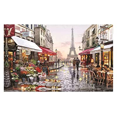 Puzzle 1000 Pieces Jigsaw Puzzle for Kids & Adult - Paris Flower Street Landscape Jigsaw Puzzle (17 in x 12 in): Toys & Games