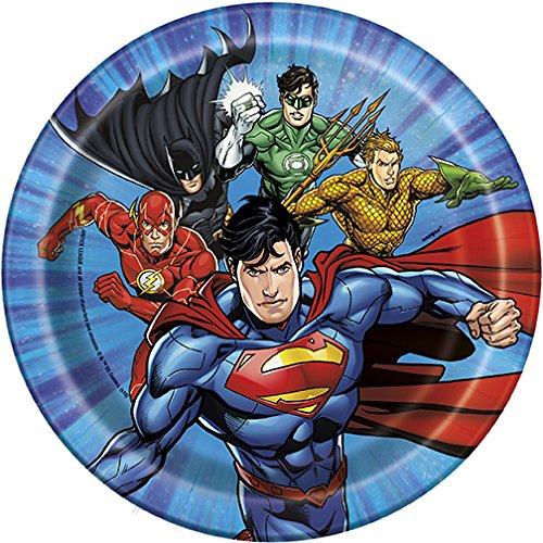 Amazon.com: FAKKOS Design DC Comics Justice League Superheros Birthday Party Supplies Pack Bundle Serves 16: Large Plates, Small Plates, Cups, Napkins, ...
