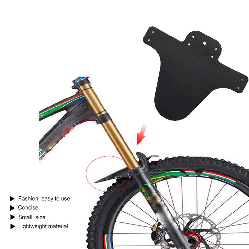 HHmei 1Pair Bicycle Lightest MTB Mud Guards Tire Tyre Mudguard for Bike Fenders - Bicycle Front Fork Fender Black C23
