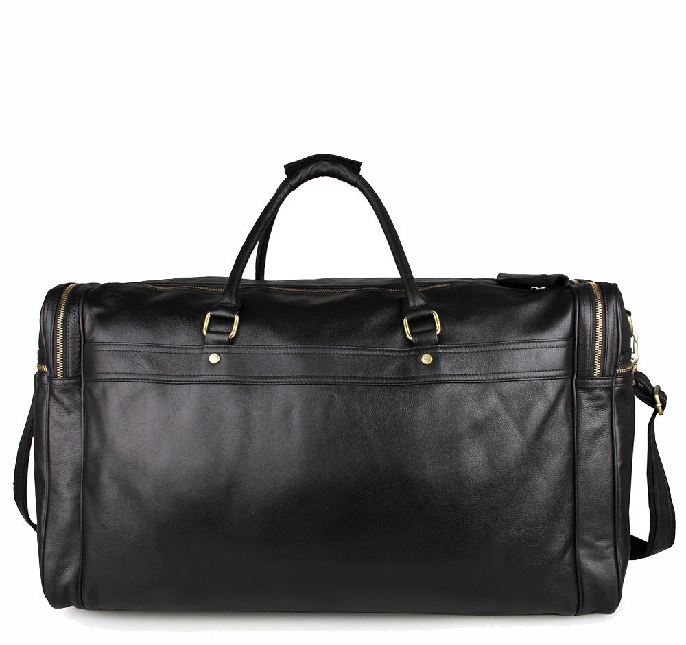 Ybriefbag Unisex Large-Capacity Leather Travel Bag / First Layer Leather Bag Mens Business Bags Diagonal Shoulder Bag 21 Inch Leather Bag Casual Multifunctional Travel Bag Vacation