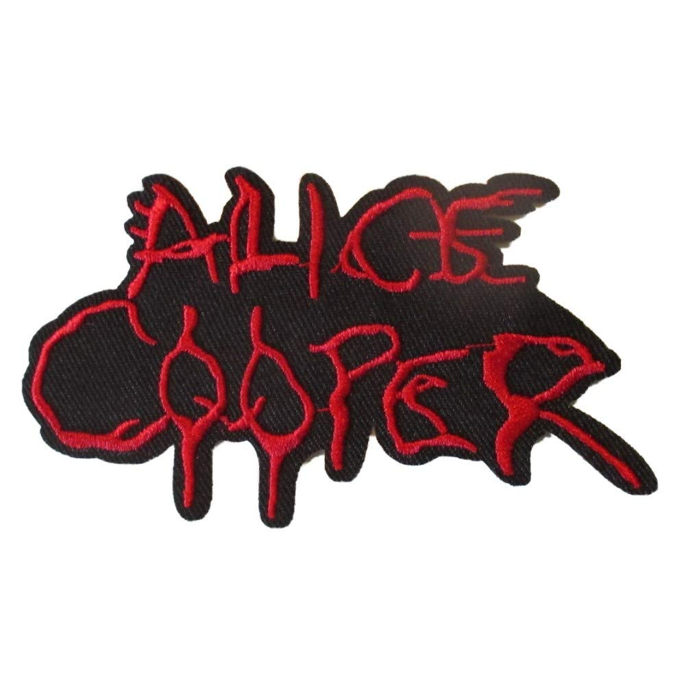 hotrodspirit - Patch Alice Cooper Noir Rouge 10.5x5.5cm ecusson thermocollant Hard Rock