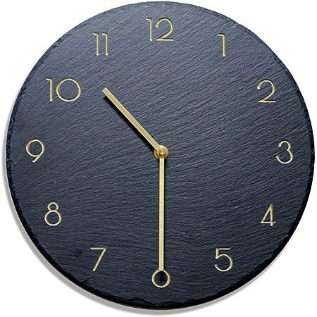 Imagen deNXSP Reloj de Pared Negro de diseño Moderno,Mecanismo Pow Patrol Art Decor Clock Living Room