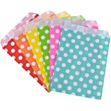 Rantanto 48 Pcs Food Safe Biodegradable Paper Treat Sacks, Party Favors Bags (BZ0001 Polka Dot)