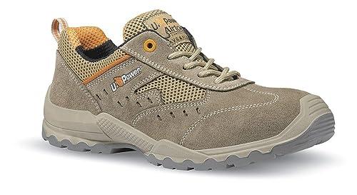 U-Power - S1 - Zapato de seguridad de ante con ventilación lateral Beige Size