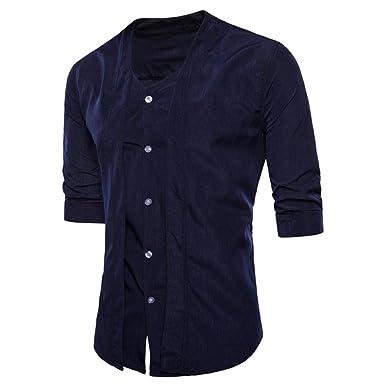 8074762770b36 Camisas Slim Fit Hombre Camisa Básica Cuello Clásico Camisas de Vestir  Formal Caballero Camisas Vestidos Entalladas