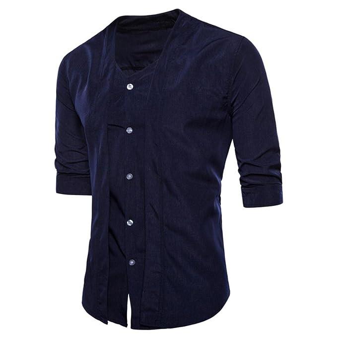 Camisa Fit Básica Slim Cuello Camisas Clásico De Hombre 8OkNX0wnP