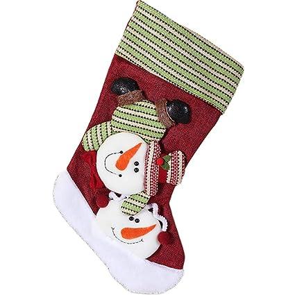 Hilai Calcetines de Navidad Colgar Adornos calcetín Calcetines Caramelo Colgante Bolsa de Regalo para los niños