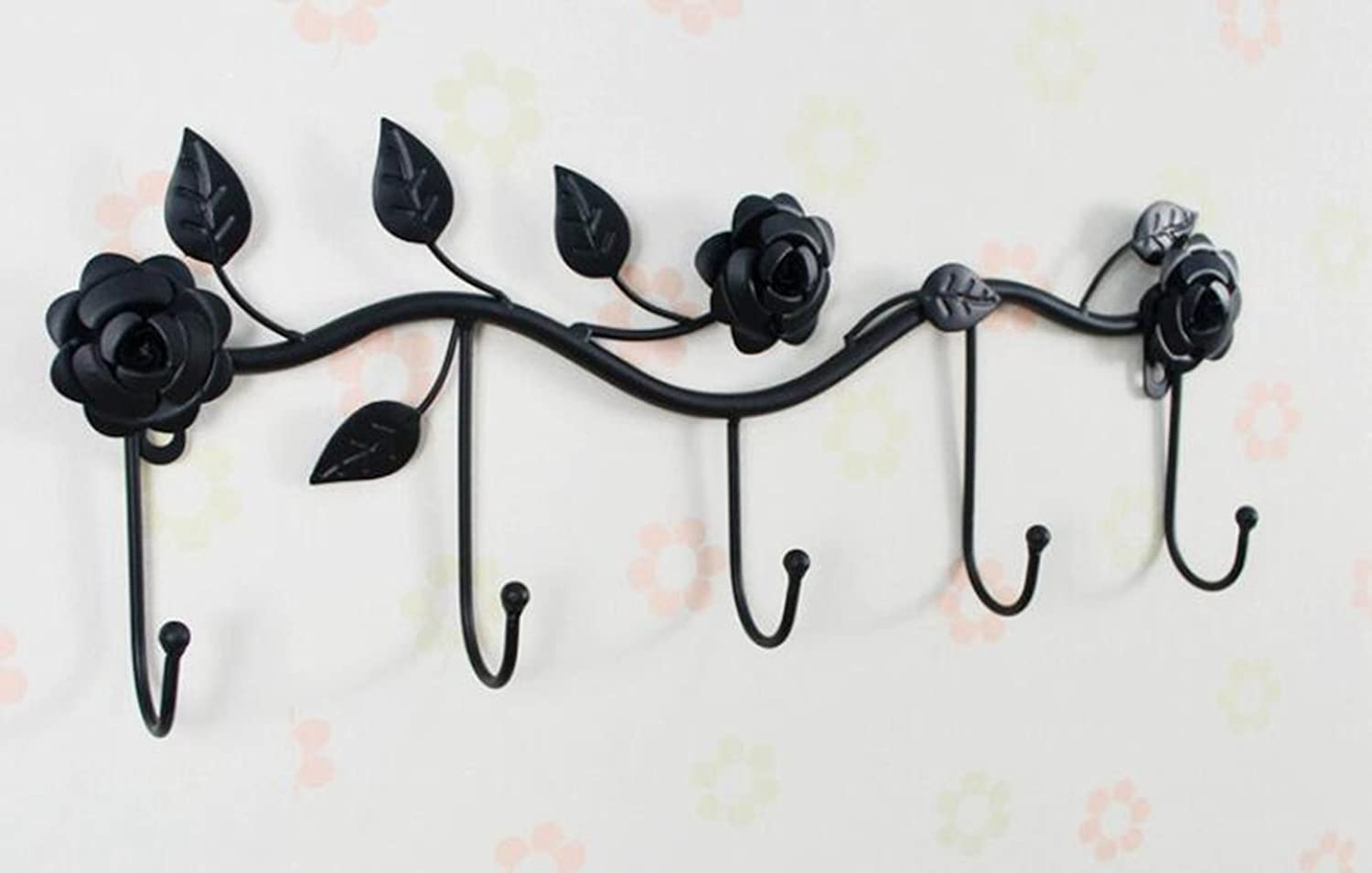 elegantstunning Creative Coat Rack Hanging Behind The Door Black
