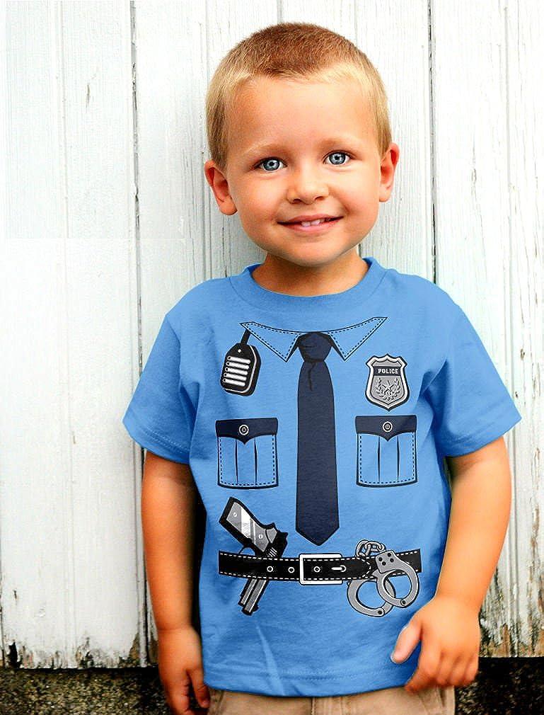 Police Cop Uniform Policeman Kids T-Shirt Non Violent No Guns Toddler Large 5-6
