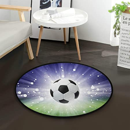 Mnsruu - Alfombra Redonda de balón de fútbol para Sala de Estar o ...