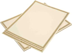 Certificate Paper 20 Pack with Gold Foil Border - Award and Diploma Paper Compatible with Inkjet and Laser Printers (8.5