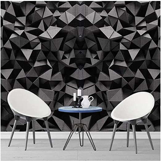 Amazon Com N A Decorative Mural Custom Mural Wallpaper 3d Stereo Geometry Black Cloth Pattern Wall Painting Living Room Tv Bedroom Art Background Wall 120x100cm Kitchen Dining