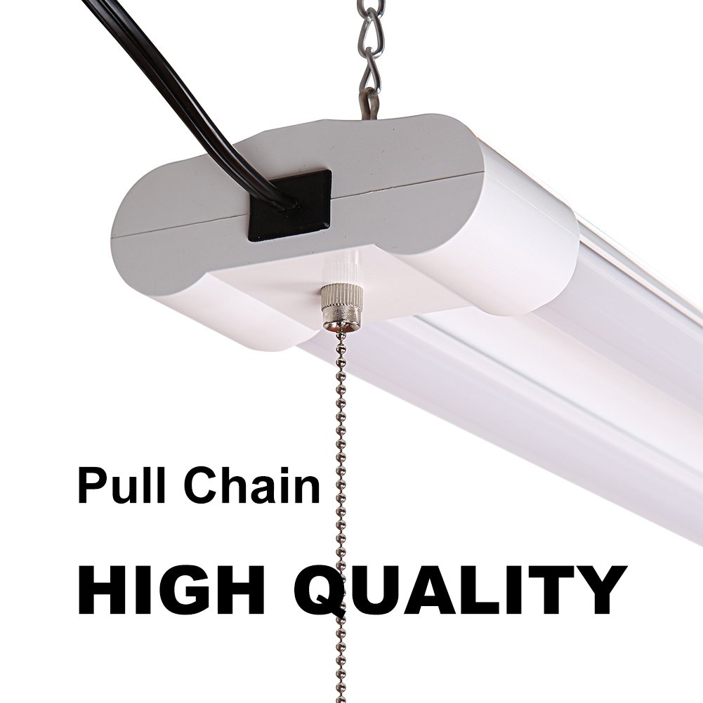 Linkable 40W 4FT LED Utility Shop Lights for Garage BBOUNDER 4000 Lumen 5000K Daylight Super Bright Utility Light Fixture Hanging Mounting Light for Warehouse Basement Garage Workbench (6 pack) by BBOUNDER (Image #3)