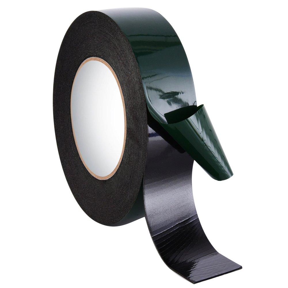 Kentop Gommapiuma nastro adesivo doppio nastro nero 12 mm Spugna Rotolo Nastro Impermeabile montaggio nastro adesivo Automotive Grade Targa Auto Decorazioni