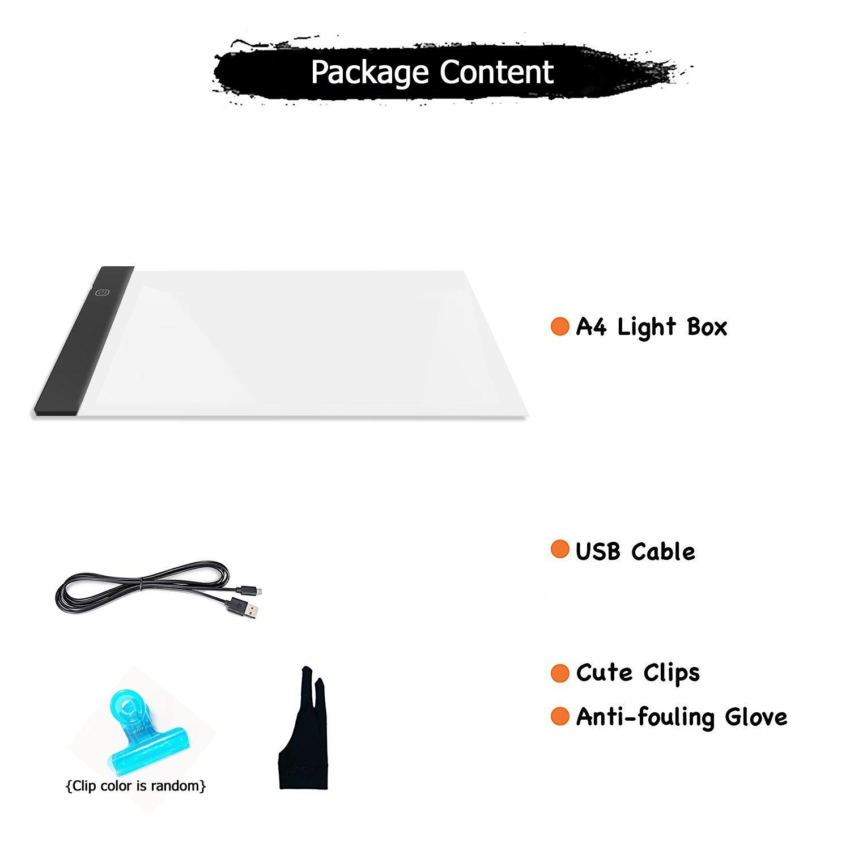 Caja de luz de dibujo, A4 caja de luz LED de dibujo de tablero de ...