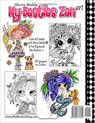 Sherri Baldy My Besties Zen Art Coloring Book Free Shipping