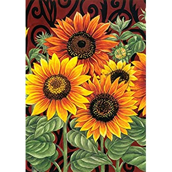 "Toland Home Garden Sunflower Medley 28"" x 40"" Decorative Flower House Flag"