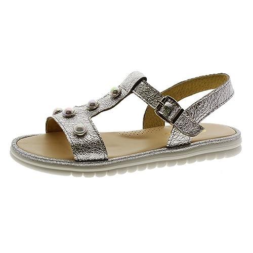 8553052b22 CLARYS Sandalia Suela Dentada Niña 6841 Plata: Amazon.es: Zapatos y  complementos