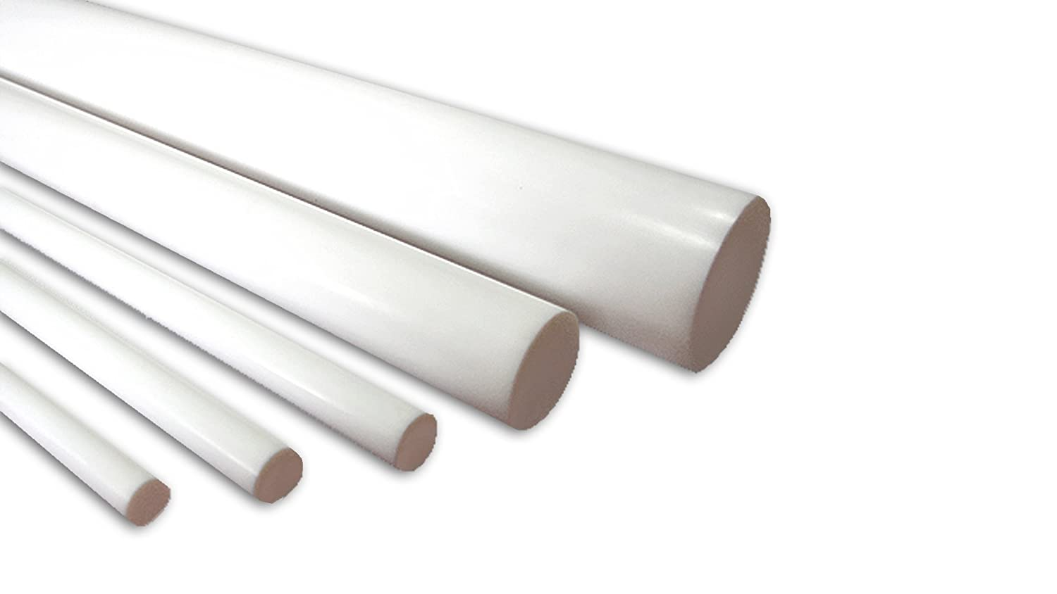 5//8 9//16 Medium to Large Diameter Sample test pack Pack of 5 3 lengths: Diameters-1//2 11//16 Sterling Seal TFEROD3MD.LGPACK Virgin PTFE Round ROD Material 3//4 included in this pack.