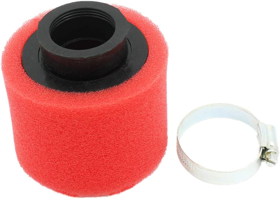Yingshop Universal 35mm Red Double Foam Pod Performance Air Filter Cleaner for Motorcycle ATV Quad Scooter Go Kart 50cc 70cc 90cc 110cc 125cc Moped Pit Dirt Racing Super Pocket Yamaha Suzuki Baja 49cc