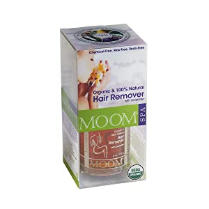 Moom Organic Hair Removal Kit with Lavender, 6 Oz Package