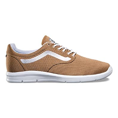 7f30dc3cf0 Image Unavailable. Image not available for. Color  Vans Iso 1.5 Mesh  Tiger s Eye True White Men s Classic Skate Shoes Size 8