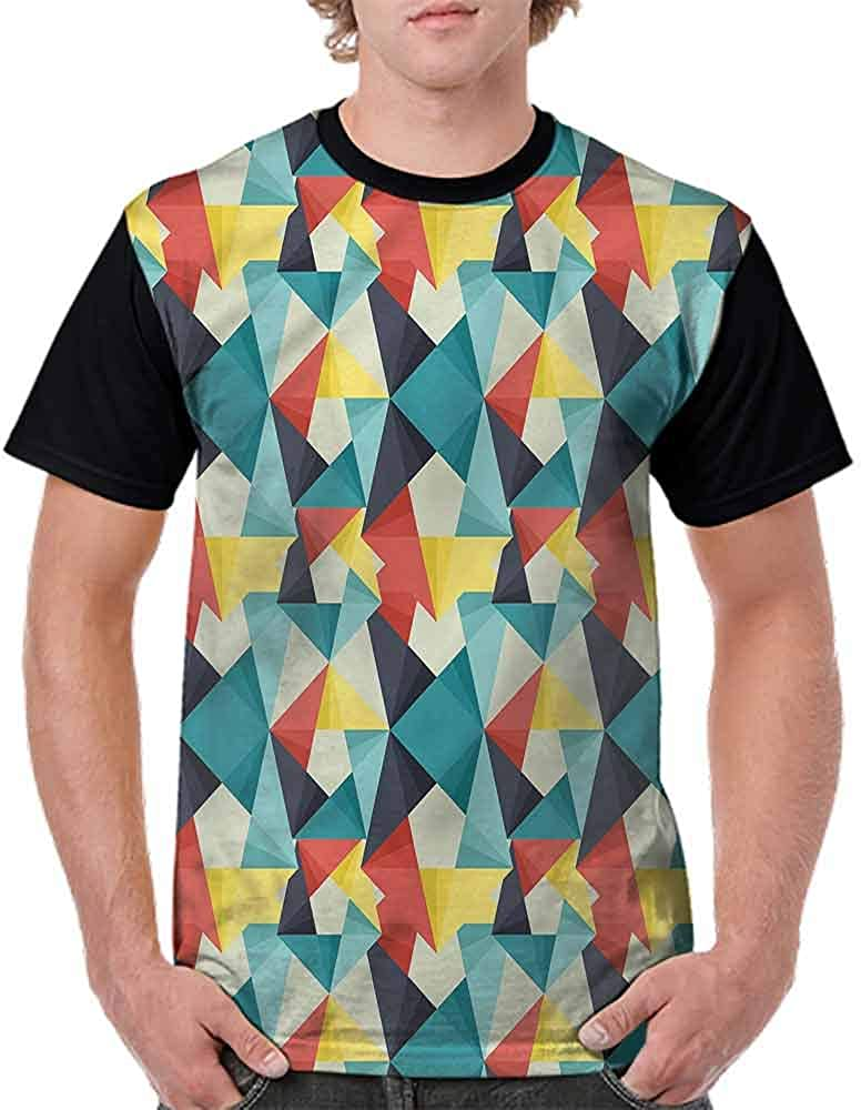 Classic T-Shirt,Colorful Cubes Arrangement Fashion Personality Customization