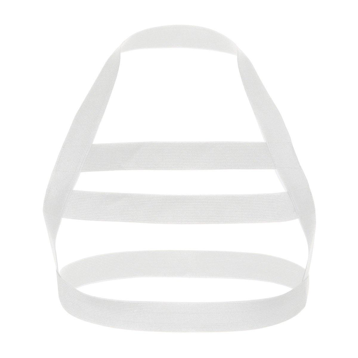 iEFiEL Men Nylon Halter Neck Elastic Body Chest Harness Costume Belt White One Size