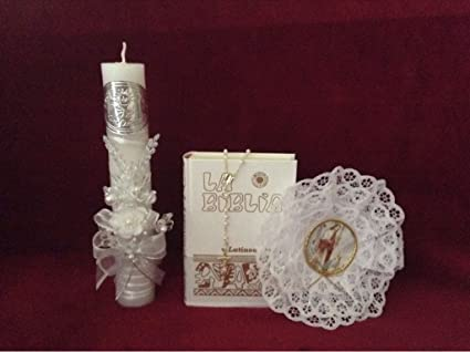 Amazon.com : First Holy Communion Flowers Boquete/Embossed ...