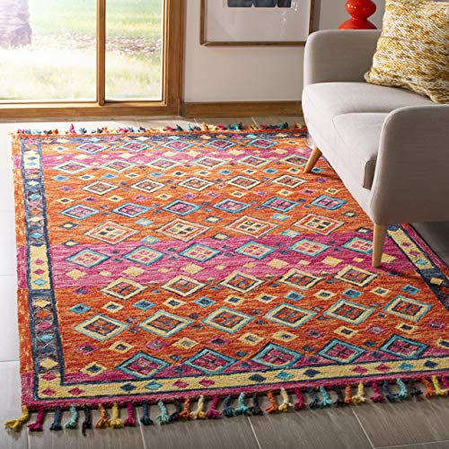 Safavieh APN138A-6 Rug, 6' x 9', Orange