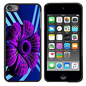 Eason Shop / Premium SLIM PC / Aliminium Casa Carcasa Funda Case Bandera Cover - Púrpura abstracto de la flor - For Apple iPod Touch 6 6th Touch6