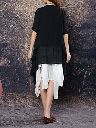 High Low Cardigan Loose Long Women Solid Cotton Sunscreen Beige Linen qORnvwS