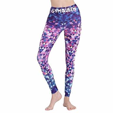 98a57a010d4fd YUE GYM Sport Leggings for Women Sublimation Printed Mosaic Design Fitness  Leggings (S)