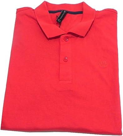 Ropa hombre Plaza Italia Camiseta Polo roja 100% algodón tamaño L ...