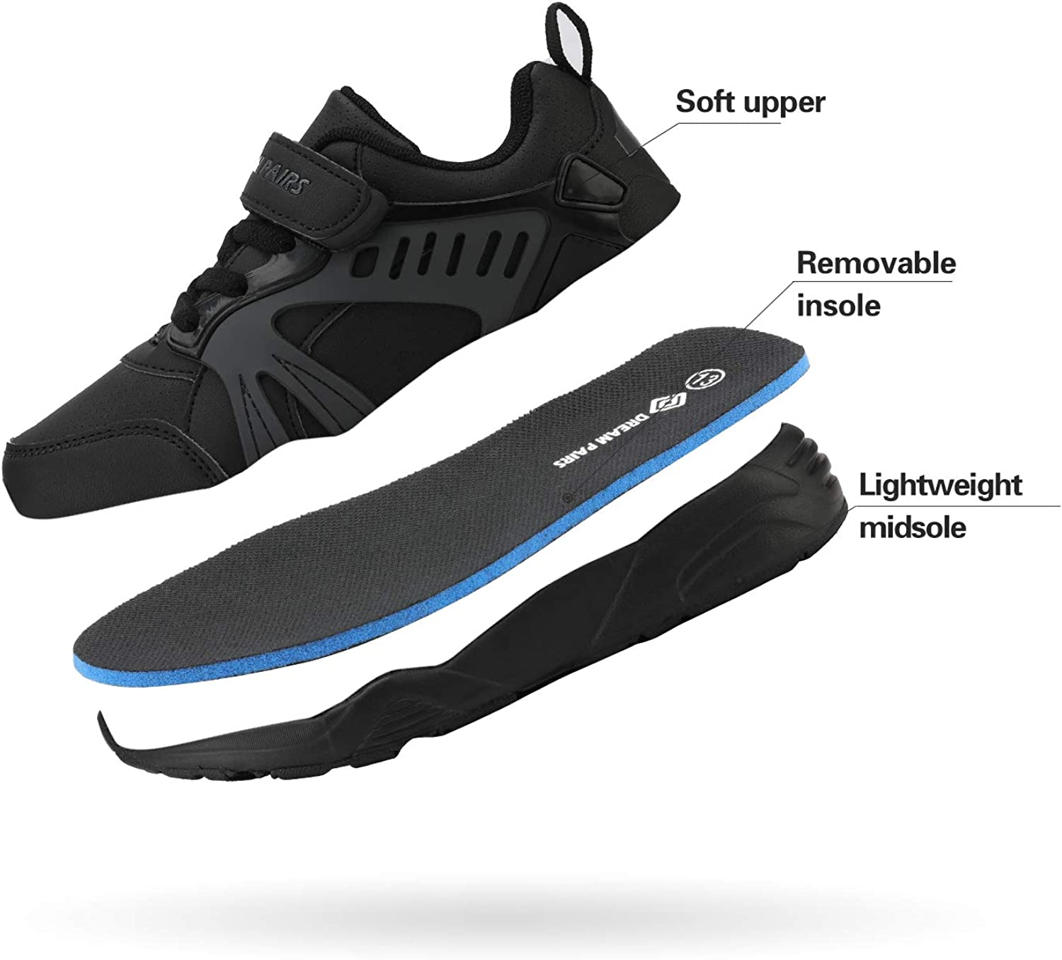DREAM PAIRS Boys Girls Fashion Sneakers Lightweight Breathable Running Walking Shoes