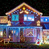 Christmas Lights Projector – 10 Piece Pattern Multicolor Rotating Led Xmas light For Outdoor Decoration and Year Round Festivities From Novapolt.