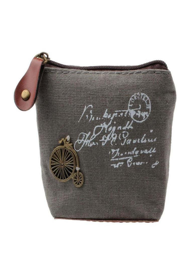Inverlee Girl Retro Coin Bag Purse Wallet Card Case Handbag Gift Eiffel Tower WH (D)