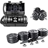 Adjustable Dumbbells Set 22/33/44/66 lbs Home Weight Lifting Professional Dumbbells for Body Workout Home Gym Fitness with Ca