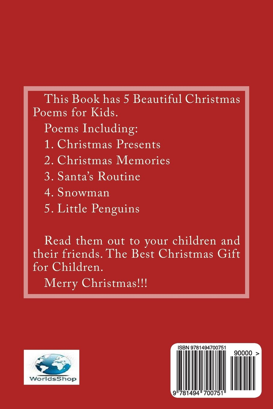 Christmas Poems for Kids: Jason Lewis, Worlds Shop: 9781494700751 ...