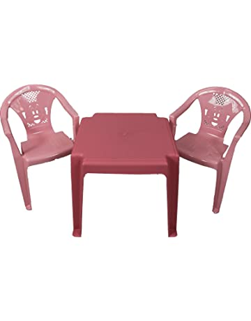 5dc6db5e521d Kids Childrens Plastic Garden or Inside table and chairs set for Boys and  Girls Red Blue