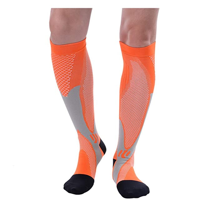 4c92b789649 1 Pair New Fashion Compression Knee High Sock Support Pregnancy Health Socks