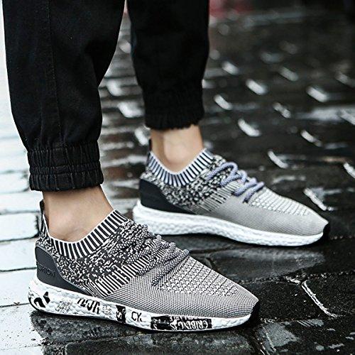 de Caminar Deporte Running Deportes Respirable Asfalto para Correr Gris de Up para Zapatillas Casual de Gimnasia de Ligero Hombre Zapatos en gracosy Peso Sneakers Zapatillas Zapatos Lace Ex00ywBqrY