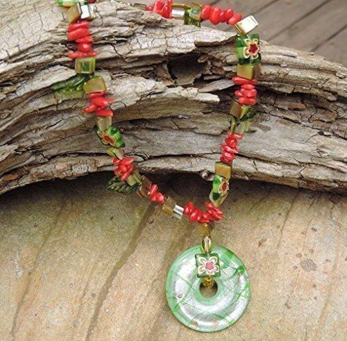 Murano Style Ring - Murano Style Art Glass Pendant Necklace, Bracelet & Earrings
