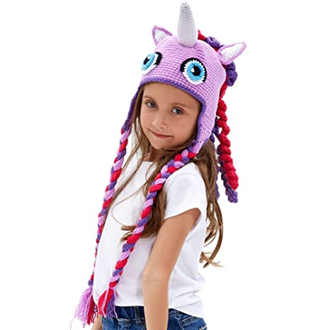 876b3293ecdbf Tacobear Sombrero Divertido Niños Unicornio Sombrero Invierno Cálido Gorro  Gorra Beanie Warm Cap Otoño Invierno Tejidos