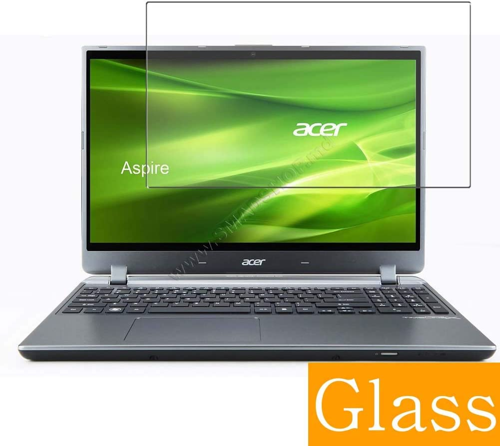 """Synvy Tempered Glass Screen Protector for ACER Aspire M5-582pt 15.6"""" Visible Area 9H Protective Screen Film Protectors (Not Full Coverage)"""