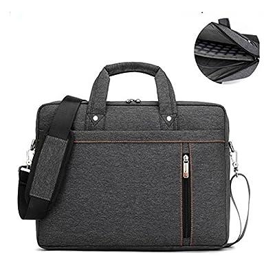 15.6 Inch Laptop Shoulder Bag Waterproof Messenger Bag Shockproof Laptop Case Roomy Stylish Handle Bag Tablet Briefcase For 15-17.3 Inch Laptop/Ultrabook/Macbook Pro Retina Case//Surface, Black